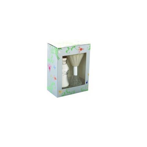 Lady Primrose Celadon Dusting Silk Shaker and Brush Set in Royal Garden Gift Box