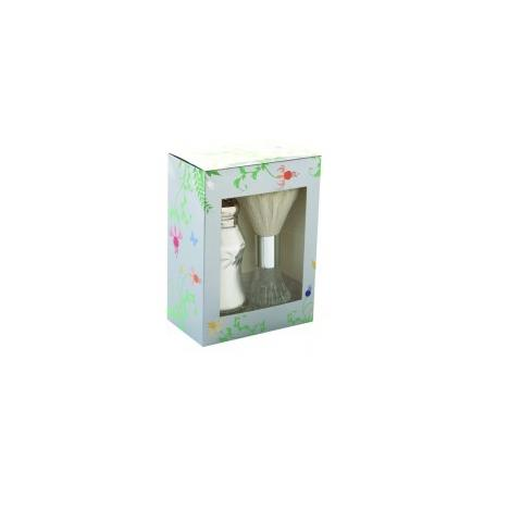Lady Primrose Celadon Dusting Silk Shaker and Brush Set in Royal Garden Gift Box