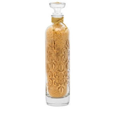 Lady Primrose Royal Extract Bathing Salts Glass 24k Gold Decanters 23oz