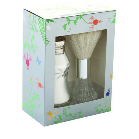 Lady Primrose Royal Extract Dusting Silk Shaker and Brush Set - In Royal Garden Gift Box