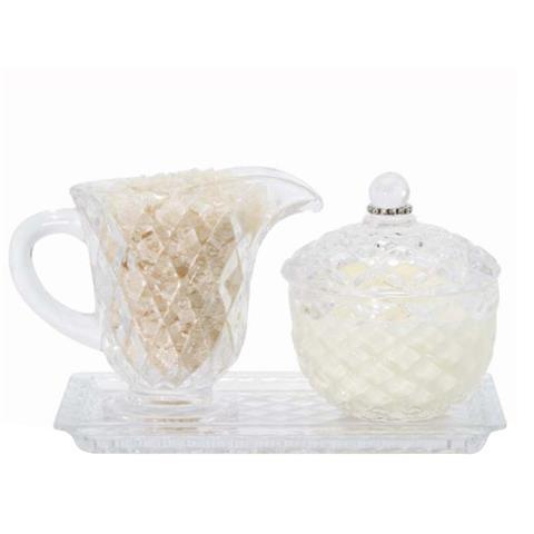 Lady Primrose Tryst Crystal Jubilee Set 5oz Bath Salts & 4oz Candle