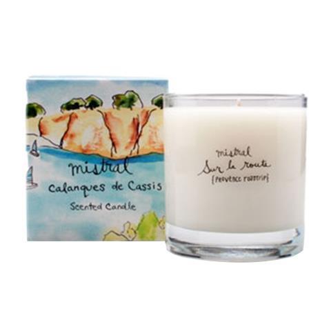 Mistral Sur La Route Calaques Cassis Glass Candle 8.8 oz/250G