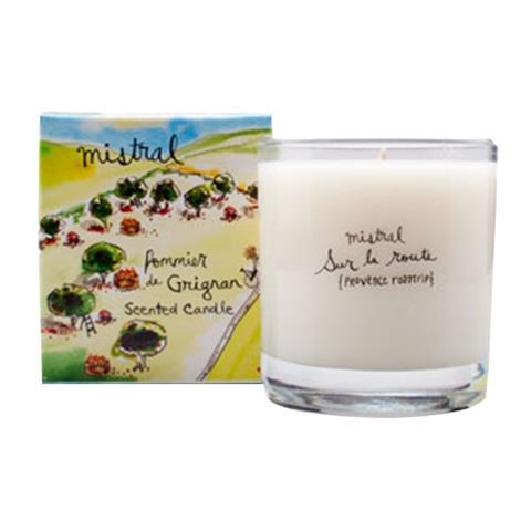 Mistral Sur La Route Grignan Apple Glass Candle 8.8 oz/250G