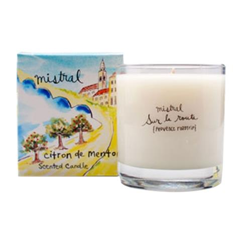 Mistral Sur La Route Menton Citrus Glass Candle 8.8 oz/250G