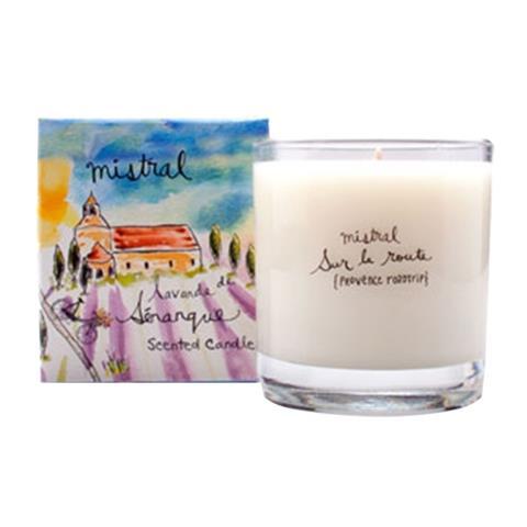 Mistral Sur La Route Senanque Lavender Glass Candle 8.8oz/250G
