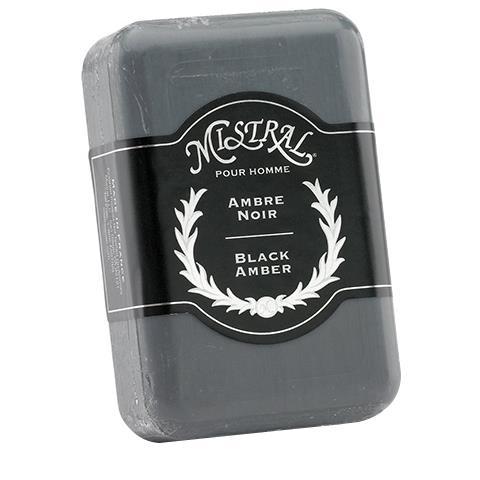 Mistral Men's Soap Black Amber 8.8oz/250G