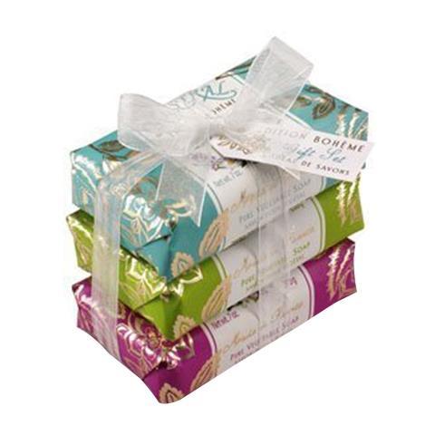 Mistral Boheme Flowers 3 Soap Gift Set 7oz