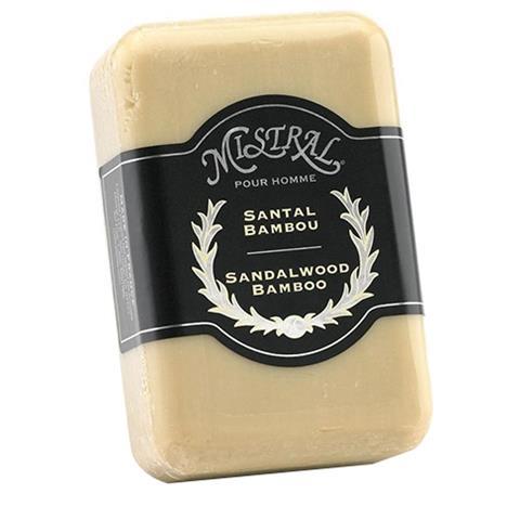 Mistral Men's Soap Sandalwood Bamboo 8.8oz/250G