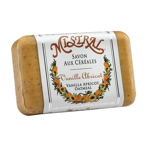 Mistral Classsic French Soap Vanilla Apricot Oatmeal 7oz