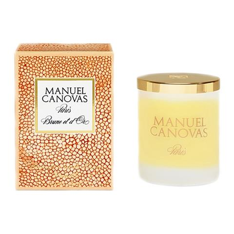 Manuel Canovas Brune et d'Or Large Candle 6.6oz Approx 60 Hours