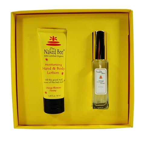 The Naked Bee Orange Blossom Honey Perfume Gift Set