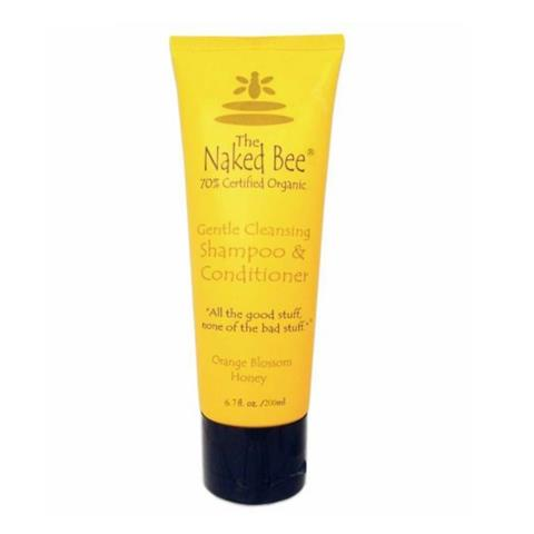 The Naked Bee Orange Blossom Honey Gentle Cleansing Shampoo & Conditioner Tube 200ml/6.7oz