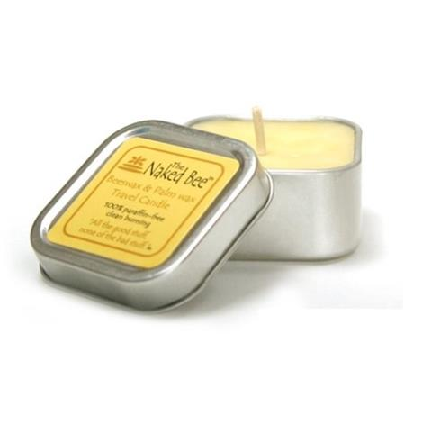 The Naked Bee Beeswax & Soybean Wax Travel Candle 100% Paraffin Free 5.5oz