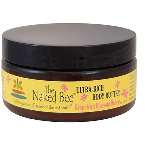 The Naked Bee Grapefruit Blossom Honey Ultra Rich Body Butter Lotion 237ml/8oz