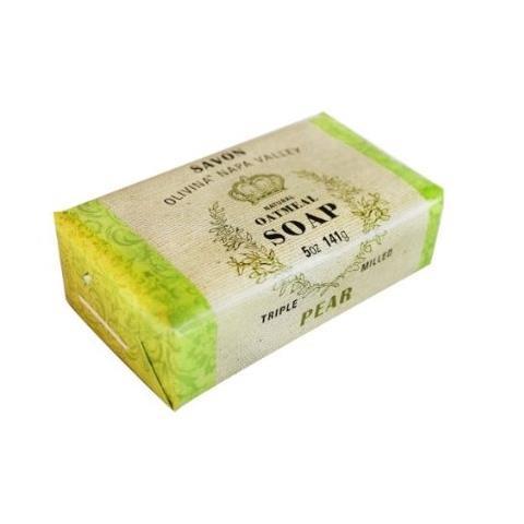 Olivina Natural Triple Milled Bath Oatmeal Soap Pear 5oz
