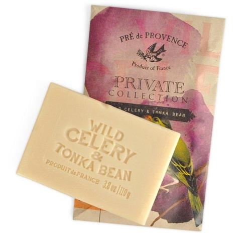Pre de Provence Private Collection Soap Wild Celery & Tonka Bean 3.8 oz