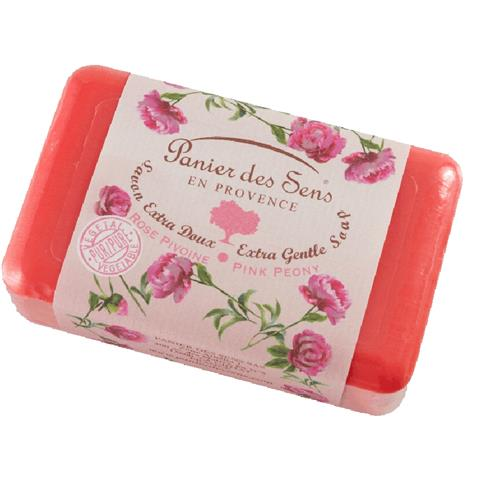 PanierDes Sens Shea Butter Soaps Pink Peony 7oz