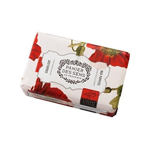 PanierDes Sens Shea Butter Soap Red Poppies 7oz
