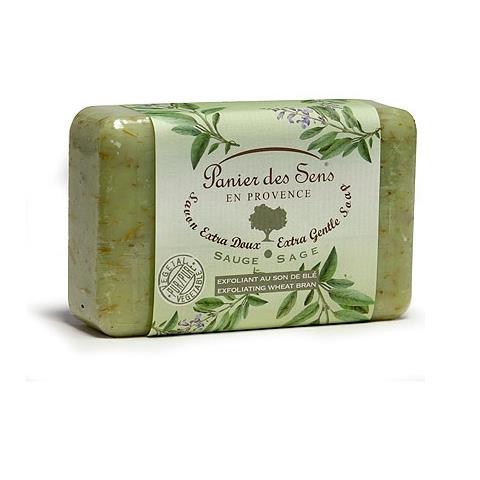 PanierDes Sens Shea Butter Soap Exfoliating Sage 7oz