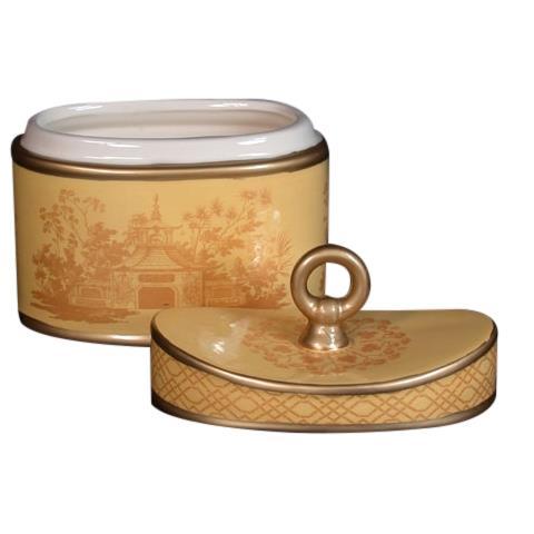 Seda France Jardins Du Ceramic 2-Wick Candle Asian Pear 22 oz