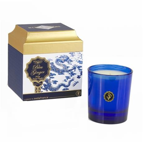 Seda France Bleu et Blanc Boxed Candle Bleu Ginger 6.25oz