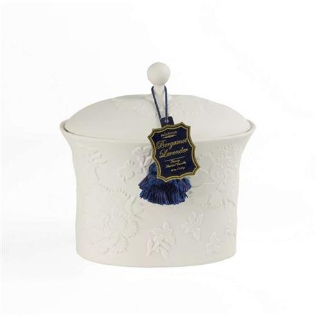 Seda France Bleu et Blanc Two-Wick Ceramic Candle Bergamot Lavender 22oz