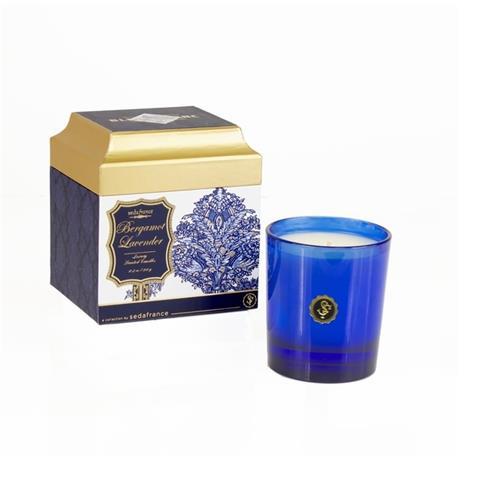 Seda France Bleu et Blanc Boxed Candle Bergamot Lavender 6.25oz