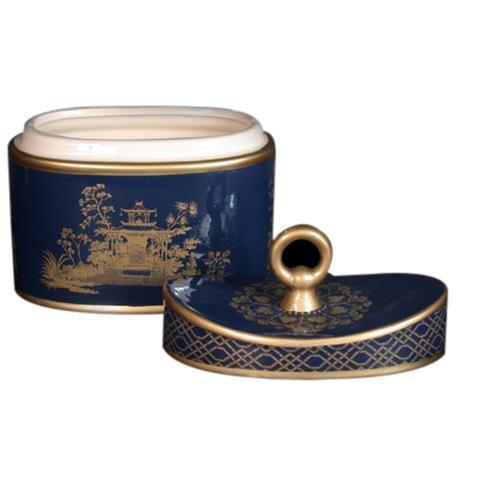 Seda France Jardins Du Ceramic 2-Wick Candle Chinese Peony 22 oz