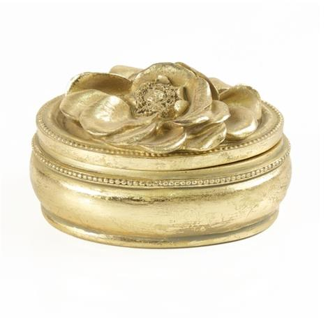 Seda France Bleu et Blanc Medium Gold Candle French Blossom 4oz