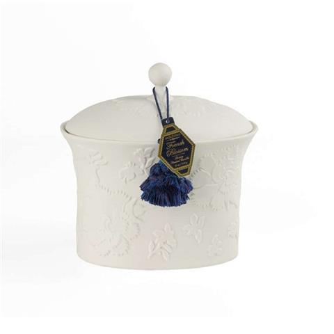 Seda France French Blossom Bleu et Blanc Two-Wick Ceramic Candle 22 oz