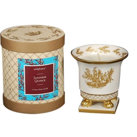 Seda France Classic Toile Ceramic Petite Candle Japanese Quince 5oz