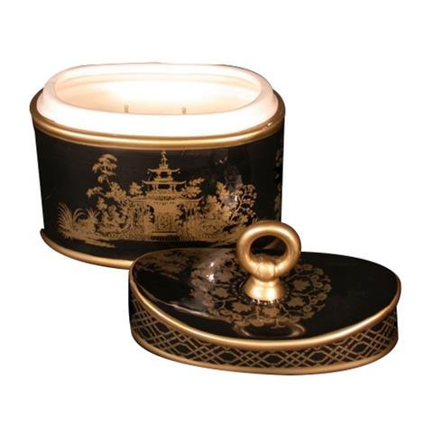 Seda France Jardins Du Ceramic 2-Wick Candle Monarch Quince 20 oz