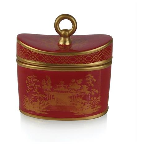 Seda France Jardins du Red Amber Ceramic Two-Wick Candle 20 oz