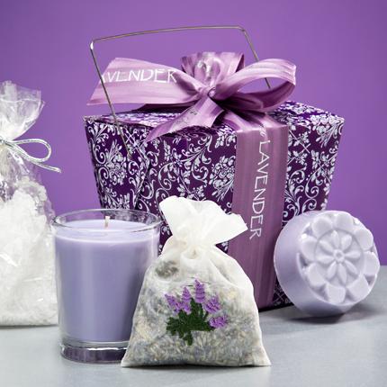 Sonoma Lavender take-out-box purple 4 items