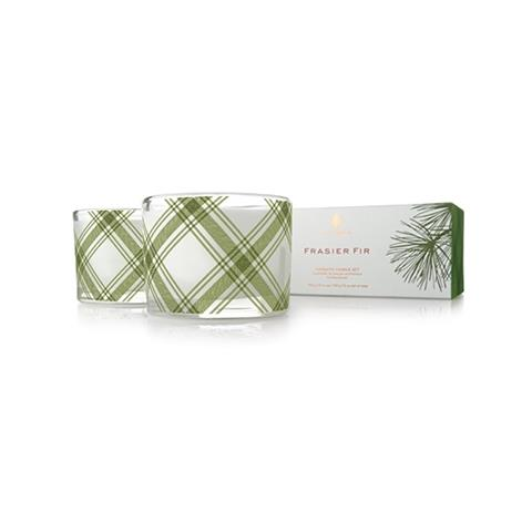 Thymes Frasier Fir Aromatic Candle Set 2 X 3.75Oz