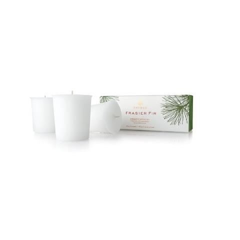 Thymes Frasier Fir Aromatic Votive Candle Set 3 X 2oz