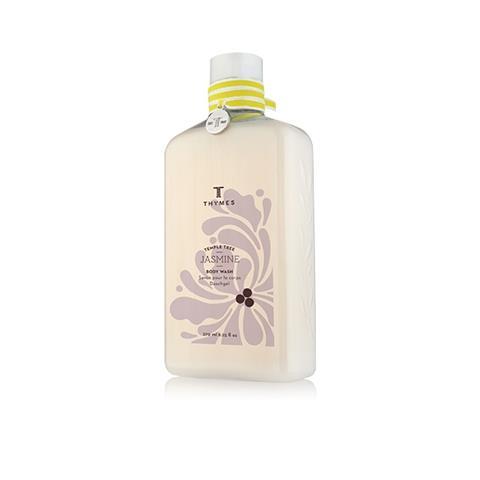 Thymes Temple Tree Jasmine Body Wash Flask 9.25 Oz