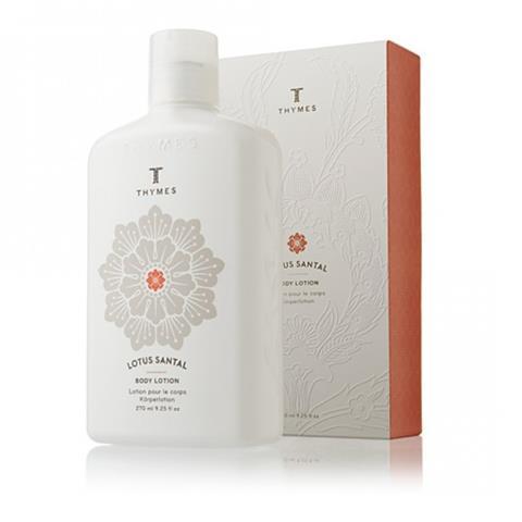 Thymes Lotus Santal Body Lotion Flask 9.25 Oz