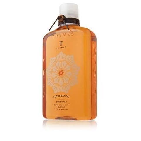 Thymes Lotus Santal Body Wash Flask 9.25 Oz
