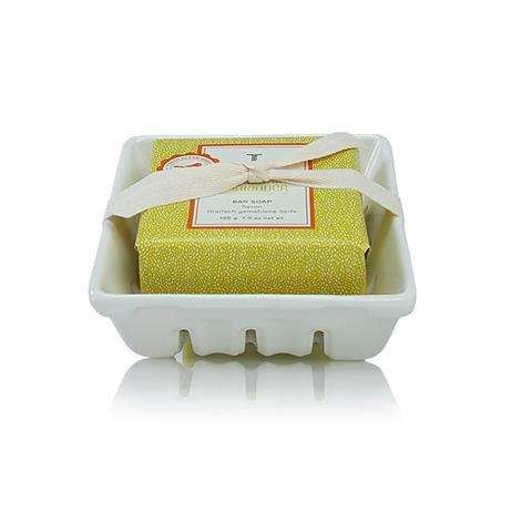 Thymes Mandarin Coriander Bar Soap & Dish Set 195G 7Oz