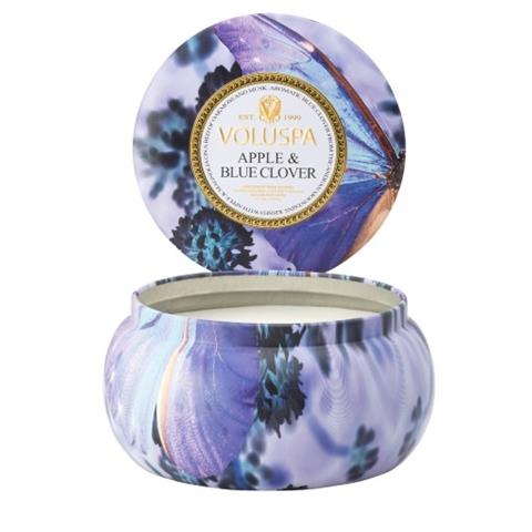 Voluspa Maison Jardin Maison Metallo Candle Apple & Blue Clover 11oz