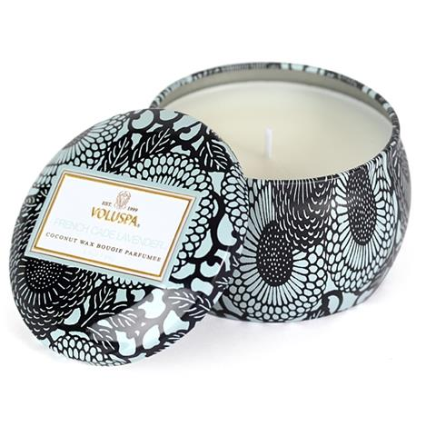 Voluspa Japonica Travel Tin Candle French Cade & Lavender 3.5oz