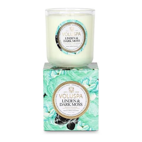 Voluspa Maison Jardin Classic Candle Linden & Dark Moss 12oz