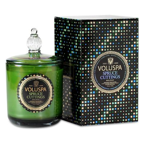 Voluspa Maison Holiday Candle Tin Spruce Cuttings 12oz