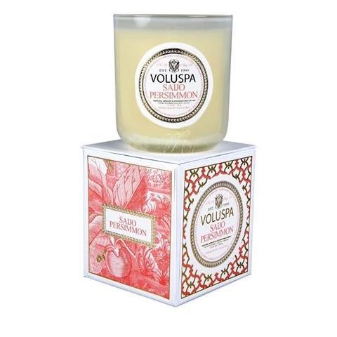 Voluspa Maison Blanc Classic Candle Saijo Persimmon 12oz
