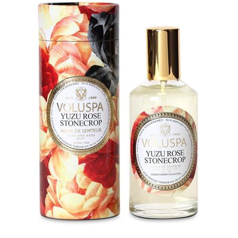 Voluspa Maison Jardin Room Spray & Body Mist Yuzu Rose Stonecrop 3.8oz