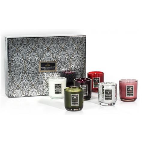 Voluspa Vermeil 6 Candle Decorative Gift Set 18oz