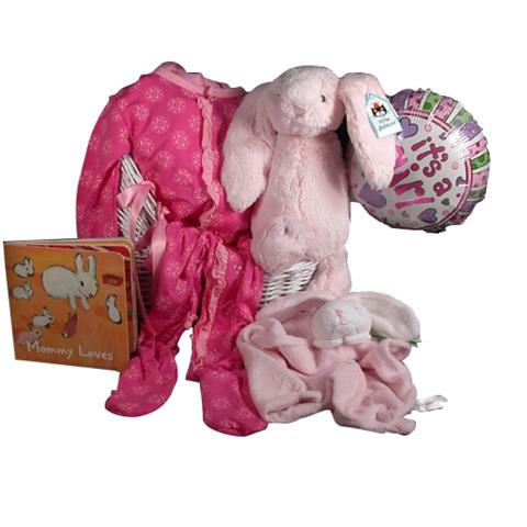 Velvety Soft Plush Chime Bunny from Jellycat London with Natural Bamboo Kicky Pants