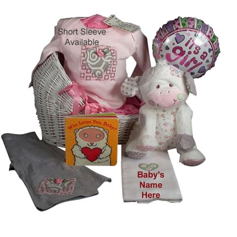 Very Special Jilly Bean Bebe With Mary Meyer Plush Cow - Baby Girl Gift
