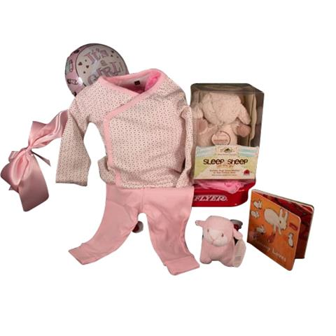 Tea Collection 2-Piece Outfit With Sleep Sheep On The Go Baby Girl Gift
